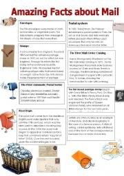 English Worksheets: Amazing Facts about Mail