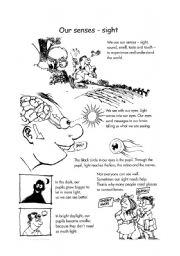 English Worksheets: our sesnes - sight