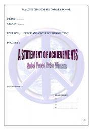 English Worksheets: A Statement of Achievement     Page (1)