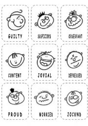 graphic regarding Emotion Faces Printable identified as Impression Faces Flashcards - ESL worksheet as a result of lolelozano