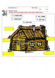English Worksheets: houses