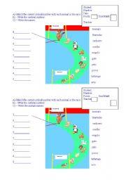 English Worksheets: animal�s racing