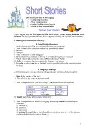 English Worksheet: Short Stories - reading and creative writing - a work in progress