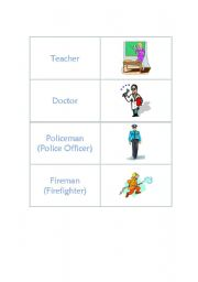 English Worksheets: Occupation Cards