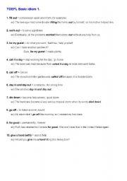 English Worksheets: TOEFL idioms