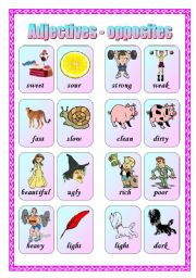 Vocabulary worksheets > Meaning > The opposites > Opposites - matching ...