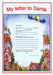 English Worksheet: My letter to Santa