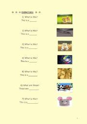 English Worksheets: an�mals