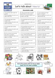 English Worksheet: Let�s talk about �HOW TO�