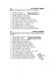English Worksheets: Possessive of nouns