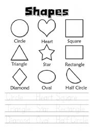 Shapes - worksheet by sitingduck