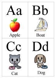 worksheet: ABC flash cards Part 1