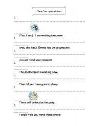 English Worksheets: Yes No Question