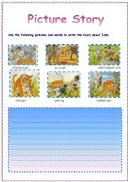 English Worksheets: a holiday in the jungle