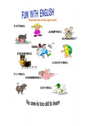 English Worksheets: Fun with English 2