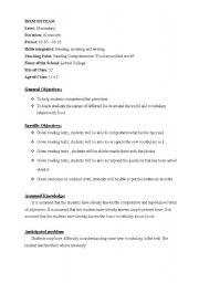 sample elementary lesson plan template