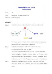 English Worksheets: the letter u