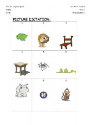 English Worksheets: picture dicatation