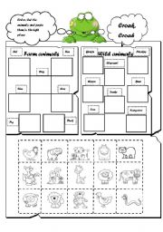 English Worksheets: WILD AND FARM ANIMALS