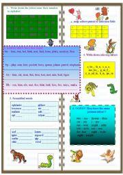 English worksheet: Writing activity. Animals