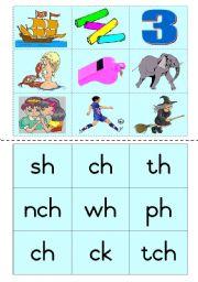 Consonant diagraphs Game 1