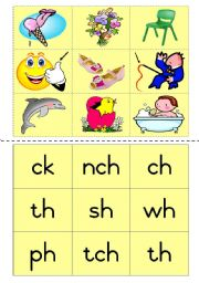 Consonant Diagraphs Game 2