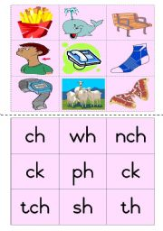 Consonant diagraphs Game 3