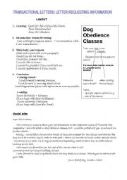 English Worksheets: Transactional letters: a letter of request