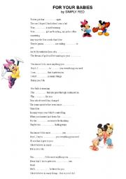 English Worksheet: Simply Red, simly BEAUTY :)
