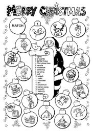 English Worksheet: Merry Christmas