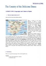 English Worksheet: A reading and activities about Spain
