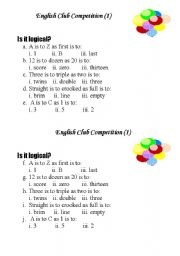 English Worksheets: competition
