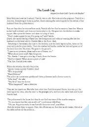 English Worksheets: the lamb leg