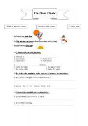 English Worksheet: Grammar / The Noun Phrase
