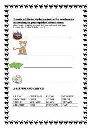 English Worksheets: FOR KIDS