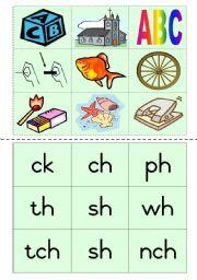 Consonant diagraphs Game 4