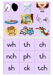 Consonant diagraphs Game 5