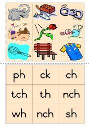 Consonant diagraphs Game 6