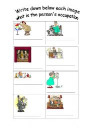English Worksheets: Occupations part 2