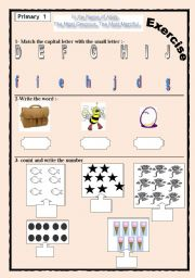 English Worksheets:  primary one exercise