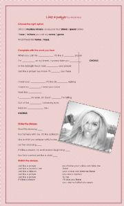 English Worksheet: Like a prayer song by Madonna