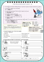 English Worksheets: THE POSSESSSIVE CASE