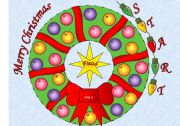 Christmas Wreath Board Game with 56 Question Cards