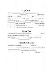 English Worksheets: Cold War Notes