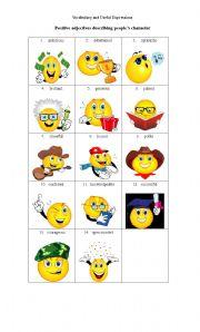 Intermediate ESL worksheets: Adjectives describing people
