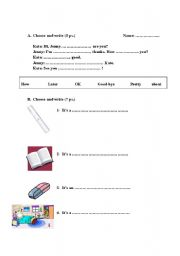 English Worksheets: Let�s Go 2 Quizz