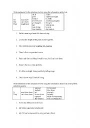 English Worksheet: past probability