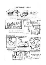 English Worksheets: The Five senses - suond