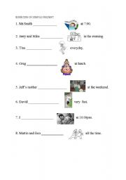 English Worksheets: present s�mple
