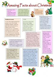 English Worksheets: Amazing Facts about Christmas (16.11.2009)